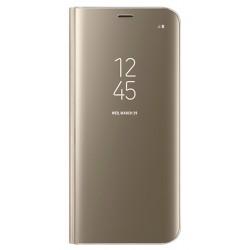 """Originalus auksinės spalvos dėklas """"Clear View Standing Cover"""" Samsung Galaxy S8 telefonui ef-zg950cfe"""
