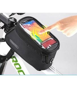 """Universalus juodas dviračio dėklas telefonui - krepšys (L) """"Roswheel"""""""