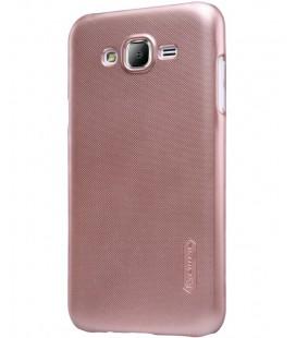 """Rausvai auksinės spalvos plastikinis dėklas Samsung Galaxy J5 telefonui """"Nillkin Frosted Shield"""""""