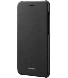 """Originalus juodas atverčimas dėklas Huawei P8/P9 Lite 2017 telefonui """"Flip Cover"""""""