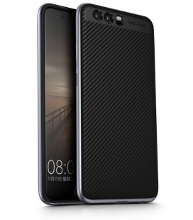 """Pilkas CARBON dėklas Huawei P10 telefonui """"U.Case"""""""