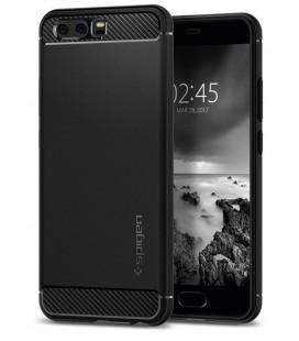 """Juodas dėklas Huawei P10 telefonui """"Spigen Rugged Armor"""""""