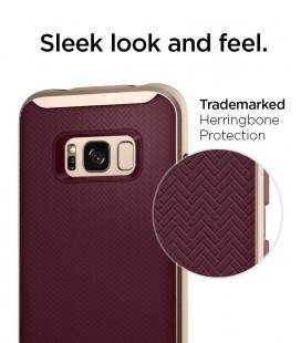 """Atverčiamas auksinės spalvos dėklas Huawei Honor 8 telefonui """"Nillkin Sparkle S-View"""""""