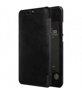 """Odinis juodas atverčiamas dėklas Huawei P10 Plus telefonui """"Nillkin Qin S-View"""""""