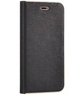 """Juodas atverčiamas dėklas su rėmeliu Huawei P8/P9 Lite 2017 telefonui """"Book Vennus Z"""""""