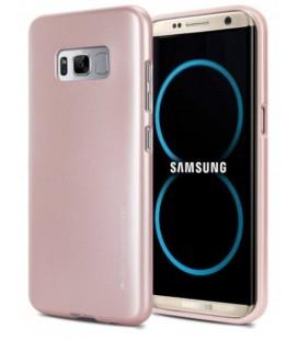 """Rausvai auksinės spalvos silikoninis dėklas Samsung Galaxy S8 telefonui """"Mercury iJelly Case Metal"""""""