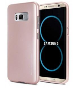 """Rausvai auksinės spalvos silikoninis dėklas Samsung Galaxy S8 Plus telefonui """"Mercury iJelly Case Metal"""""""