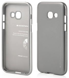 """Pilkas silikoninis dėklas Samsung Galaxy A5 2017 telefonui """"Mercury iJelly Case Metal"""""""