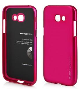 """Rožinis silikoninis dėklas Samsung Galaxy A5 2017 A520 telefonui """"Mercury iJelly Case Metal"""""""