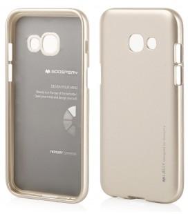 """Auksinės spalvos silikoninis dėklas Samsung Galaxy A5 2017 telefonui """"Mercury iJelly Case Metal"""""""
