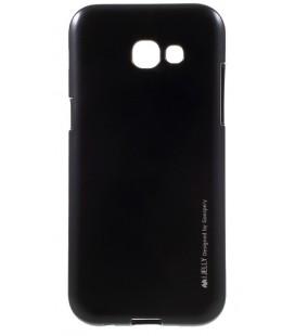 """Juodas silikoninis dėklas Samsung Galaxy A5 2017 telefonui """"Mercury iJelly Case Metal"""""""
