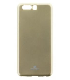 """Auksinės spalvos silikoninis dėklas Huawei P10 telefonui """"Mercury Goospery Pearl Jelly Case"""""""