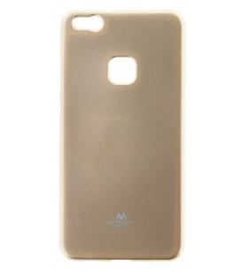 """Auksinės spalvos silikoninis dėklas Huawei P10 Lite telefonui """"Mercury Goospery Pearl Jelly Case"""""""