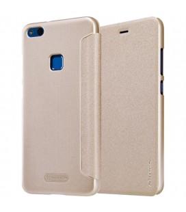 """Atverčiamas auksinės spalvos dėklas Huawei P10 Lite telefonui """"Nillkin Sparkle"""""""