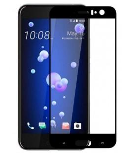 """Juodas apsauginis grūdintas stiklas HTC U11 telefonui """"Mocolo"""""""