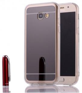 """Juodas silikoninis dėklas Samsung Galaxy A5 2017 telefonui """"Mirror"""""""