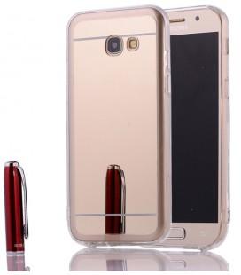 """Auksinės spalvos silikoninis dėklas Samsung Galaxy A5 2017 telefonui """"Mirror"""""""