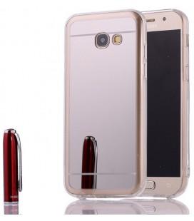 """Sidabrinės spalvos silikoninis dėklas Samsung Galaxy A5 2017 telefonui """"Mirror"""""""