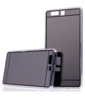"""Juodas silikoninis dėklas Huawei P10 telefonui """"Mirror"""""""