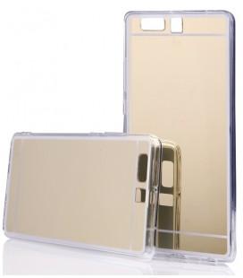 """Auksinės spalvos silikoninis dėklas Huawei P10 telefonui """"Mirror"""""""