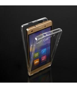 """Skaidrus silikoninis dėklas Huawei P10 Lite telefonui """"Fitty Double"""""""