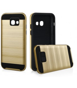 """Auksinės spalvos dėklas Samsung A3 2017 telefonui """"Motomo"""""""