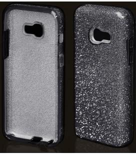 """Juodas silikoninis blizgantis dėklas Samsung Galaxy A5 2017 telefonui """"Blink"""""""
