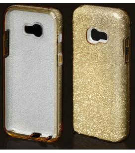 """Auksinės spalvos silikoninis blizgantis dėklas Samsung Galaxy A5 2017 telefonui """"Blink"""""""