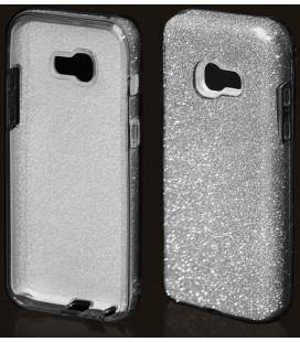"""Sidabrinės spalvos silikoninis blizgantis dėklas Samsung Galaxy A5 2017 telefonui """"Blink"""""""