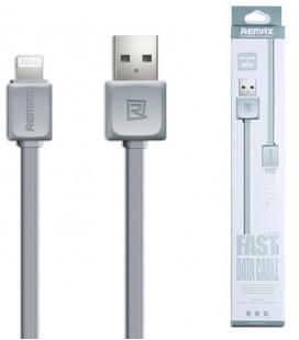 "Pilkas iPhone Lightning laidas 1m Fast Data ""Remax RC-008i"""