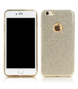 """Sidabrinės spalvos dėklas su blizgučiais Apple iPhone 6/6s telefonui """"Remax Glitter"""""""