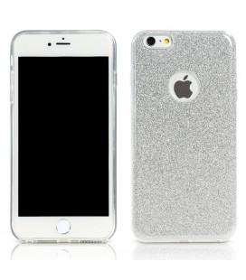 """Sidabrinės spalvos dėklas su blizgučiais Apple iPhone 7 telefonui """"Remax Glitter"""""""