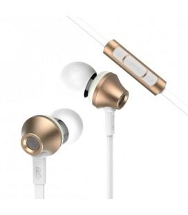 """Auksinės spalvos stereo ausinės """"Remax RM-610D"""""""