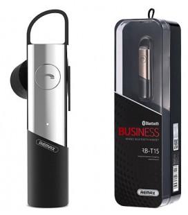 """Sidabrinės spalvos Bluetooth Business laisvų rankų įranga """"Remax RB-T15"""""""