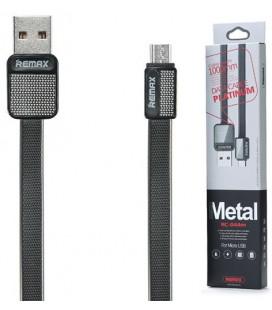 """Juodas MicroUSB - USB laidas 1m """"Remax Metal RC-044m"""""""