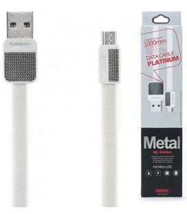 """Baltas MicroUSB - USB laidas 1m """"Remax Metal RC-044m"""""""