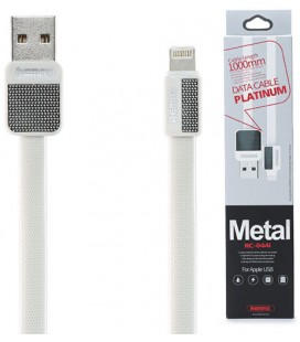 "Baltas iPhone Lightning - USB laidas 1m ""Remax Metal RC-044i"""