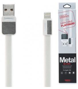 "Baltas iPhone Lightning - USB laidas 1m ""Remax Metal RC-044i"""