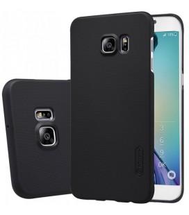 """Juodas plastikinis dėklas Samsung Galaxy S6 Edge telefonui """"Nillkin Frosted Shield"""""""