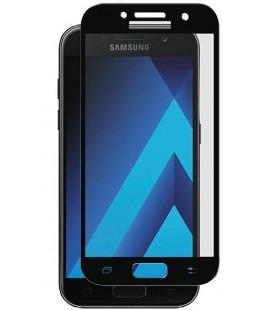 Lenktas juodas apsauginis grūdintas stiklas Samsung Galaxy A3 2017 telefonui