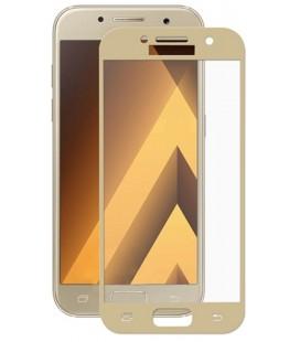 Lenktas auksinės spalvos apsauginis grūdintas stiklas Samsung Galaxy A3 2017 telefonui