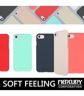 """Tamsiai mėlynas silikoninis dėklas Huawei P10 Lite telefonui """"Mercury Soft Feeling"""""""