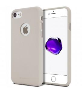 """Šviesiai pilkas silikoninis dėklas Apple iPhone 7 telefonui """"Mercury Soft Feeling"""""""