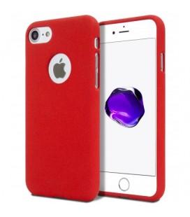 "Raudonas silikoninis dėklas Apple iPhone 7 telefonui ""Mercury Soft Feeling"""