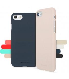 "Juodas silikoninis dėklas Apple iPhone 7 telefonui ""Mercury Soft Feeling"""
