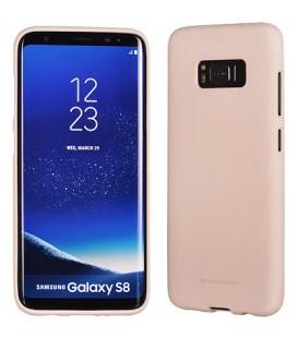 """Smėlio spalvos silikoninis dėklas Samsung Galaxy S8 telefonui """"Mercury Soft Feeling"""""""