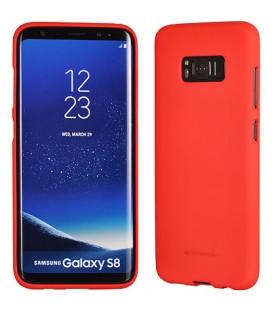 """Raudonas silikoninis dėklas Samsung Galaxy S8 telefonui """"Mercury Soft Feeling"""""""