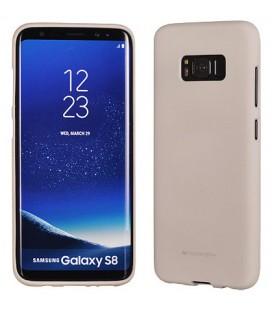 """Šviesiai pilkas silikoninis dėklas Samsung Galaxy S8 telefonui """"Mercury Soft Feeling"""""""
