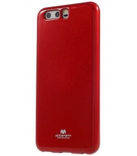 """Raudonas silikoninis dėklas Huawei P10 telefonui """"Mercury Goospery Pearl Jelly Case"""""""