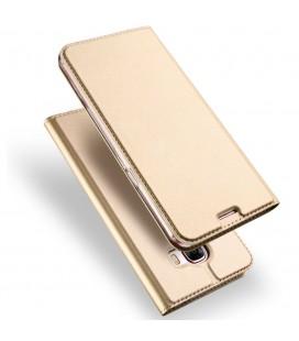 """Auksinės spalvos atverčiamas dėklas Samsung Galaxy A5 2017 telefonui """"Dux Ducis"""""""